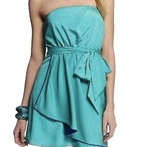 EXPRESS STRAPLESS PLEATED TUBE DRESS